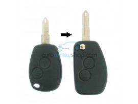 Dacia 2 Button Remote Flip Key Fob Case for item number DAC115 - key blade NE73 - with Renault logo - after market product