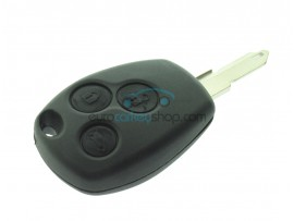 Renault 3 Button Remote Key - 434 Mhz - ID46 ( PCF7946 Hitag2) Chip - after market product - for Trafic - Vivaro - Clio