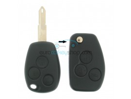 Dacia 3 Button Remote Flip Key Fob Case for item number DAC119 - key blade NE73 - after market product