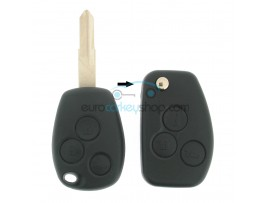 Dacia 3 Button Remote Flip Key Fob Case for item number DAC119A - key blade NE73 - after market product