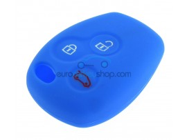 Key Cover Renault - 3 button- material Soft Rubber- Color BLUE - after market product
