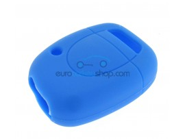 Key Cover Renault - 1 button- material Soft Rubber- Color BLUE - after market product