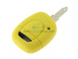 Key Cover Renault - 1 button- material Soft Rubber- Color Yellow - after market product