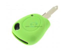 Key case Renault - 1 button- material Soft Rubber- Color Green - after market product