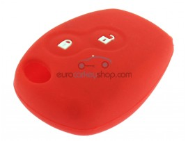 Key Cover Renault - 2 button- material Soft Rubber- Color Red - after market product