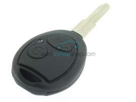 Rover 2 Button Remote Key Fob Case - oval push button - Key Blade NE75 - groove left - after market product