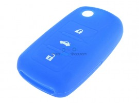 Key case Seat - 3 button - material Soft Rubber - Color Dark Blue - after market product