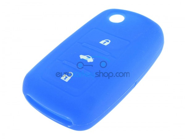 Key Cover Seat - 3 button - material Soft Rubber - Color Dark Blue - after market product