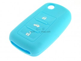 Key case Seat - 3 button- material Soft Rubber- Color Light Blue - after market product