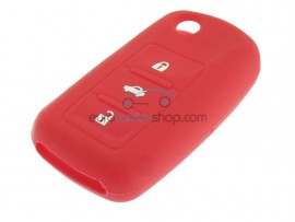 Key Cover Seat - 3 button- material Soft Rubber- Color Red - after market product