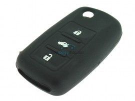 Key case Seat - 3 button- material Soft Rubber- Color Black - after market product