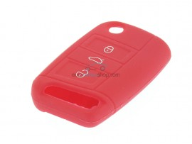 Key case Volkswagen - 3 button- material Soft Rubber- Color Red - after market product