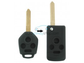 Subaru 3 Button Remote Flip Key Fob Case conversion kit for item number SUB101 - Keyblade NSN19 - after market product