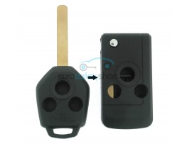 Subaru 3 Button Remote Flip Key Fob Case conversion kit for item number SUB103 - Keyblade DAT17 - after market product