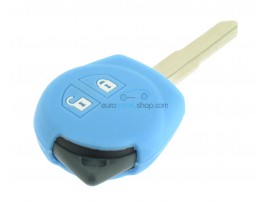 Key case Suzuki - 2 button- material soft rubber- color light blue  - for articlenr SUZ103 - SUZ105 - SUZ106 - after market product