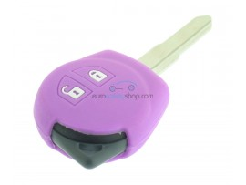 Key case Suzuki - 2 button- material soft rubber- color pink  - for articlenr SUZ103 - SUZ105 - SUZ106 - after market product
