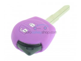 Key Cover Suzuki - 2 button- material soft rubber- color pink - for articlenr SUZ103 - SUZ105 - SUZ106 - after market product