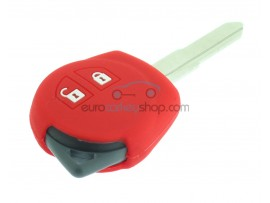 Key Cover Suzuki - 2 button- material soft rubber- color red - for articlenr SUZ103 - SUZ105 - SUZ106 - after market product