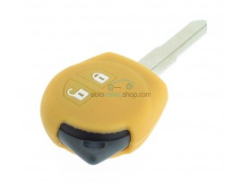 Key case Suzuki - 2 button- material soft rubber- color yellow - for articlenr SUZ103 - SUZ105 - SUZ106 - after market product