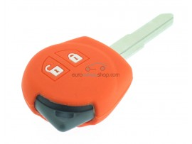 Key case Suzuki - 2 button- material soft rubber- color orange - for articlenr SUZ103 - SUZ105 - SUZ106 - after market product