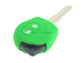Key case Suzuki - 2 button- material soft rubber- color green - for articlenr SUZ103 - SUZ105 - SUZ106 - after market product
