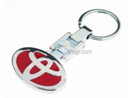 Toyota Keyring - luxury version - with logo on both sides - color red - after market product