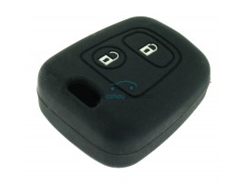 Key case Toyota Aygo - 2 button- material soft rubber- Color black - after market product