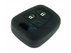 Key Cover Toyota Aygo - 2 button- material soft rubber- Color black - after market product