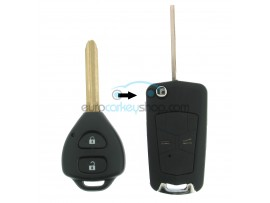 Toyota 2 Button Remote Flip Key Fob Case for item number TOY103A - Key Blade TOY47 - after market product
