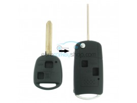 Toyota 2 Button Remote Flip Key Fob Case for item number TOY105 - Key Blade TOY47 - after market product