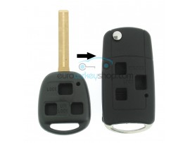 Toyota 3 Button Remote Flip Key Fob Case for item number TOY110 - Key Blade TOY40 - with suspension bracket - after market product