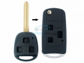 Toyota 3 Button Remote Flip Key Fob Case for item number TOY102 - Key Blade TOY43 - after market product