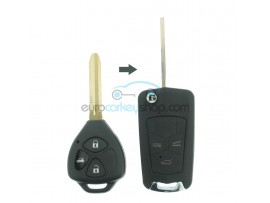 Toyota 3 Button Remote Flip Key Fob Case for item number TOY113 - Key Blade TOY43 - after market product