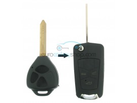 Toyota 3 Button Remote Flip Key Fob Case for item number TOY114 - Key Blade TOY47 - after market product