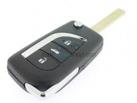 Toyota 3 Button Key Fob Remote Case - battery CR1632 - key blade VA2 - after market product