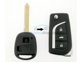 Toyota key - 2 buttons - Yaris - Avensis - Corolla - (2001- 2003) - after market product