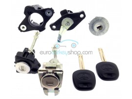Complete lock set for Toyota Aygo - (2005 - 2014 ) for models without remote control - OEM product