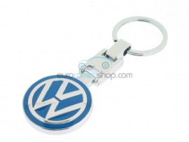 Volkswagen Keyring - luxury version - with logo on both sides - light blue - after market product