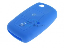 Key Cover Volkswagen - 2 button- material Soft Rubber- Color Dark Blue - after market product