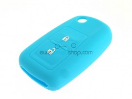 Key Cover Volkswagen - 2 button- material Soft Rubber- Color Light Blue - after market product