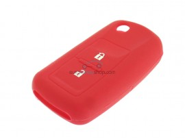Key case Skoda  - 2 button- material Soft Rubber- Color Red - after market product