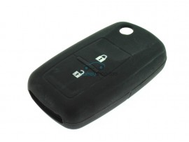 Key case Seat  - 2 button- material Soft Rubber- Color Black - after market product