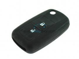 Key Cover Skoda - 2 button- material Soft Rubber- Color Black - after market product