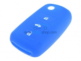 Key Cover Volkswagen - 3 button- material Soft Rubber- Color Dark Blue - after market product