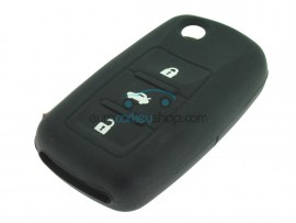 Key Cover Volkswagen - 3 button- material Soft Rubber- Color Black - after market product