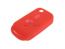 Key Case Mercedes Benz - 2 button- material Soft Rubber- Color Red - after market product