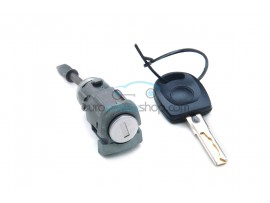 Door lock with keys for Volkswagen Passat V LH - key blade HU66 - OEM product