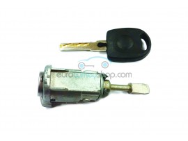 Door lock with keys for Volkswagen Golf MK4 LH - key blade HU66 - OEM product