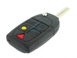 Volvo Flip Remote Key Case - 5 buttons - key blade NE66T2 - Suspension eye in the shell - after market product