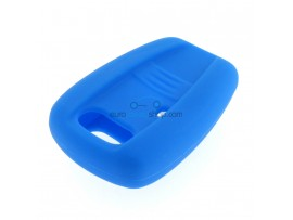 Key case Fiat - 2 button - material Soft Rubber - Color blue - for itemnr FIA101 + 102 - after market product